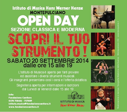 OPEN DAY Montepulciano